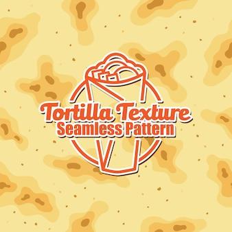 Tortilla-hintergrund-nahtloses musterdesign