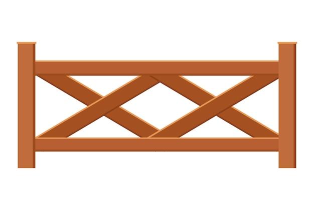 Torzaun aus holz. illustration der dekorativen barriere. schutzarchitekturelement für den außenbereich