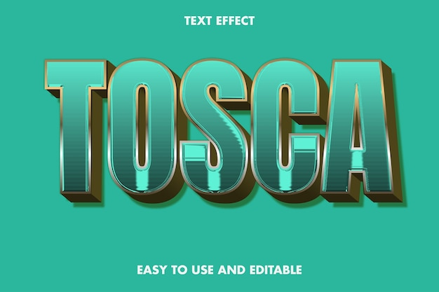 Tosca-texteffekt. bearbeitbarer schriftstil.