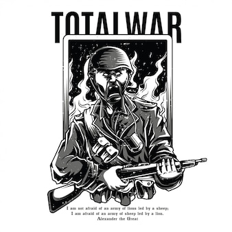 Total war black and white