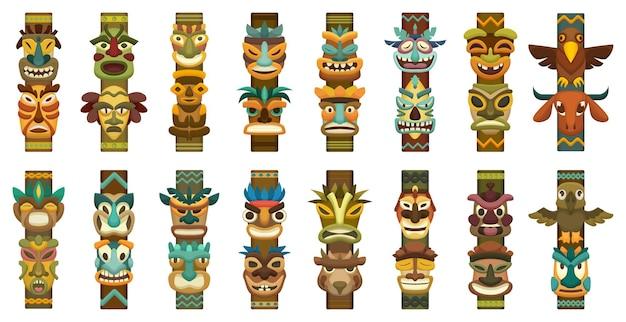 Totem-cartoon-set-symbol.