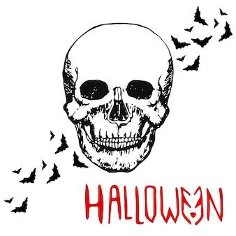 Totenkopf. halloween-hintergrund