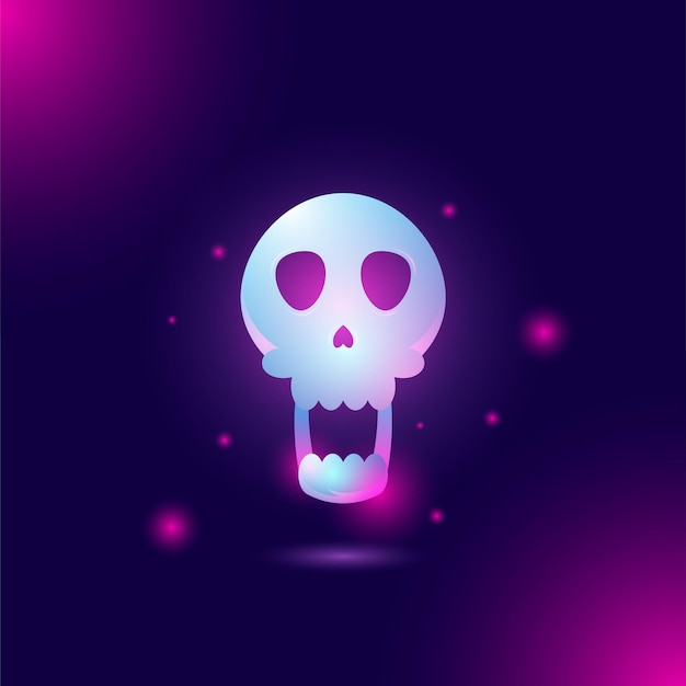 Totenkopf-kopf zur ergänzung des halloween-designs