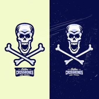 Totenkopf mit gekreuzter knochen esports logo