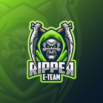 Totenkopf ripper e sport logo