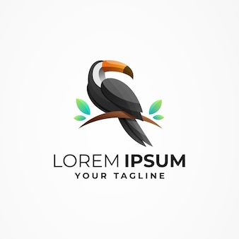 Toucan-logo mit verstärkung