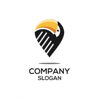 Toucan-punkt-logo-konzept