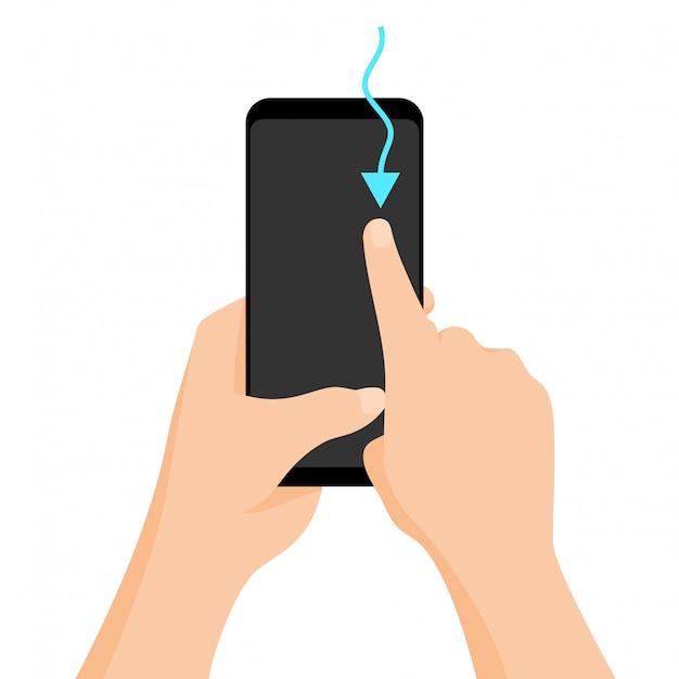 Touchscreen-geste