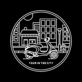 Tour in der stadt