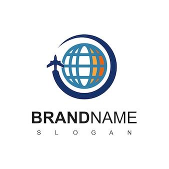 Tour- und reise-logo-design-vorlage