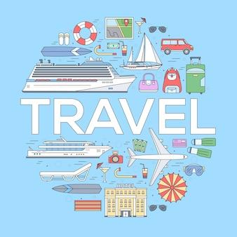 Tourismus kreis konzept design