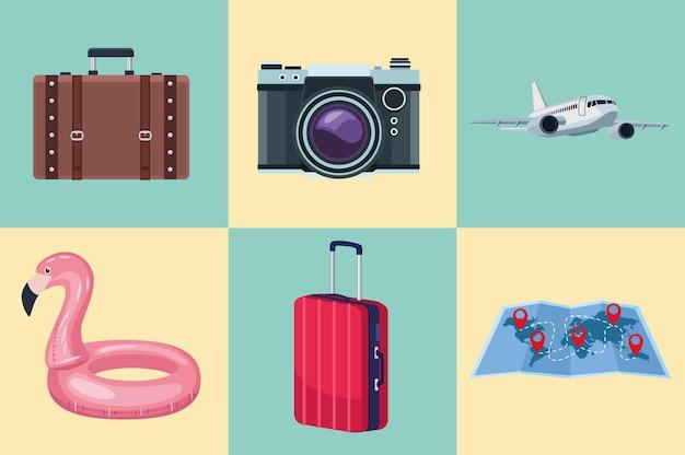 Tourismus sechs symbole