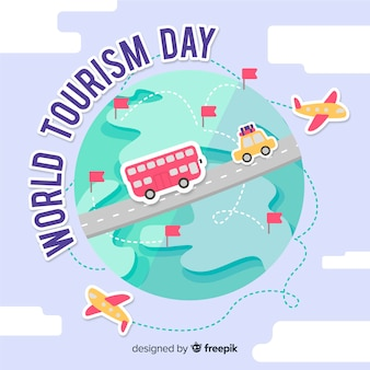 Tourismus tag auf der ganzen welt