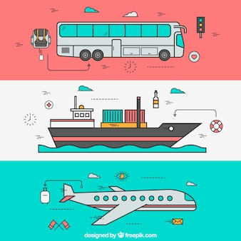 Tourismus transport set