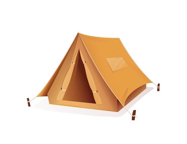 Tourist camping zelt campingplatz sportausrüstung abbildung des zeltes für tourismus und wandern