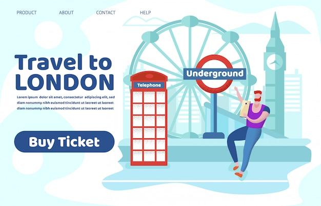 Tourist, der in england-trieb reist, sehen anblick-platz