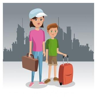 Touristen in der stadt