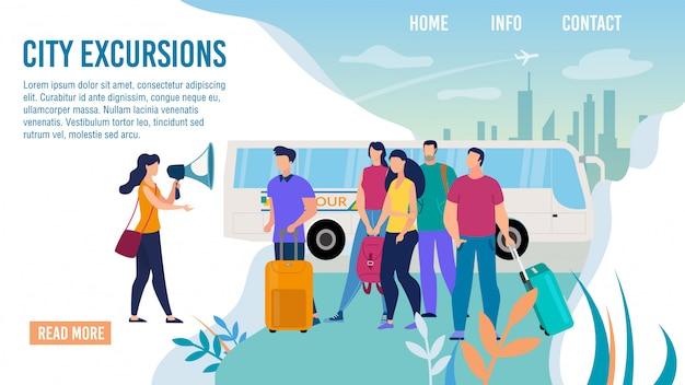 Touristic excursionist service flat webseite