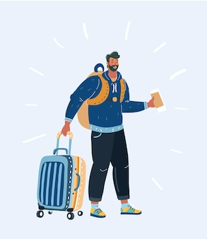 Touristischer hipster-mann