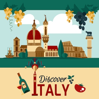 Touristisches plakat italiens