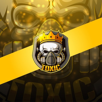 Toxic esport maskottchen logo design