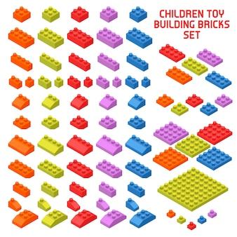 Toy constructor isometrische stücke