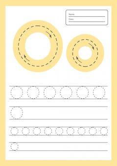 Trace buchstaben arbeitsblatt a4 für kinder im vorschulalter und im schulpflichtigen alter.
