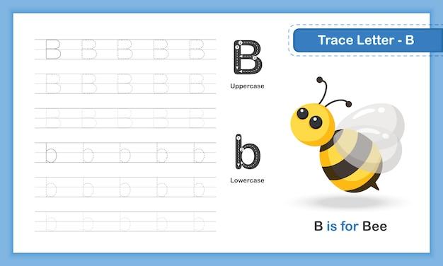 Trace letter-b: übungsbuch zum schreiben von hand, az animal