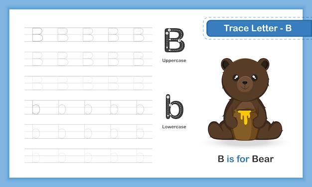 Trace letter-u: az tierhandschreibübungsbuch