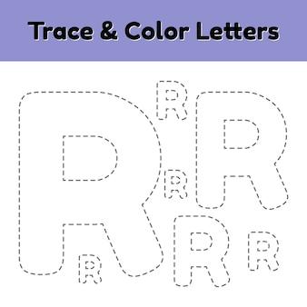 Trace line letter für kindergarten- und vorschulkinder