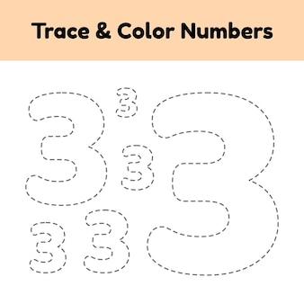 Trace-line-nummer für kinder