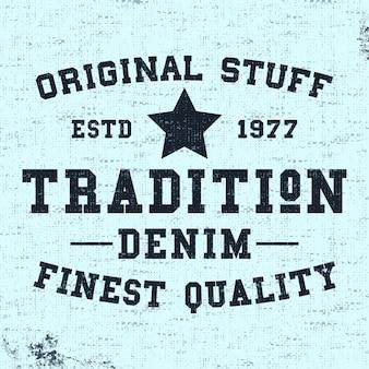 Tradition vintage stempel