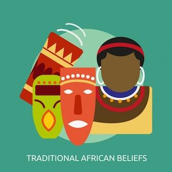 Traditionelle afrikanische glauben design