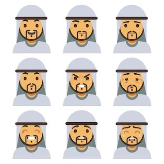 Traditionelle arabische manngefühlgesichter