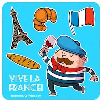 Traditionelle französisch elemente
