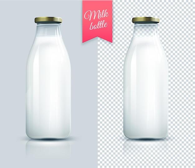 Traditionelle glasmilchflasche