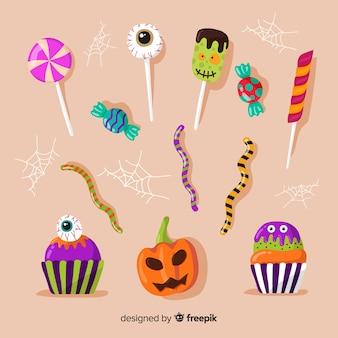 Traditionelle halloween-süßigkeiten für kinder