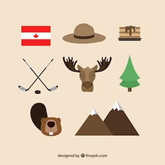 Traditionelle kanadische Elemente