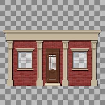 Traditionelle kleine ladenfassade