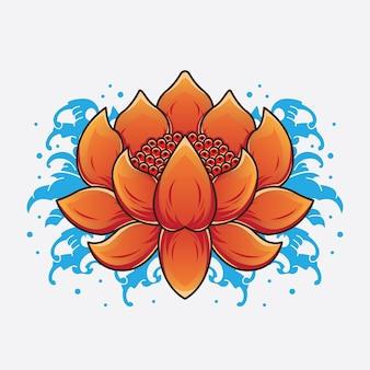 Traditionelle lotus tattoo designs