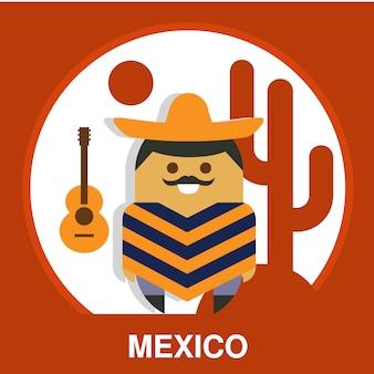 Traditionelle mexikanische illustration
