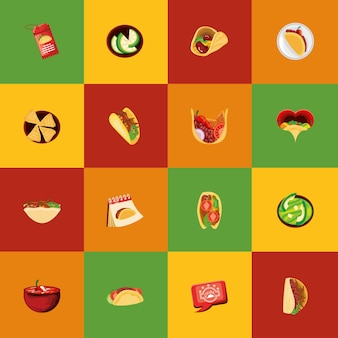 Traditionelle mexikanische tacos