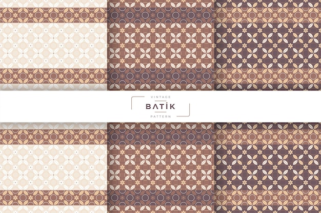 Traditionelle nahtlose batik-mustersammlung