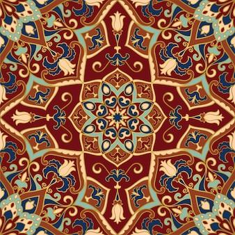 Traditionelle orientalische verzierung von mandalas.
