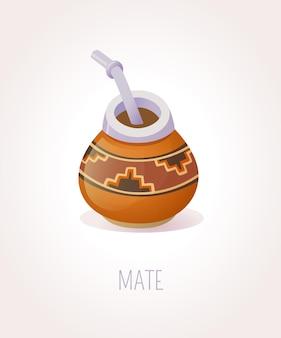 Traditionelle peruanische tasse tee
