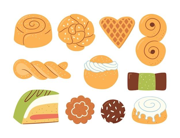 Traditionelle schwedische süßigkeiten.
