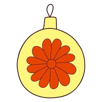 Traditionelle symbole der jahresdekoration geschenke
