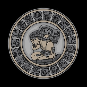 Traditionelle tätowierungsmayasymbole
