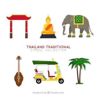 Traditionelle thailand-elemente