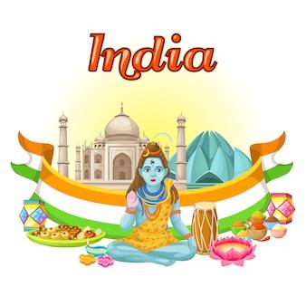 Traditionelle vorlage der indischen kultur